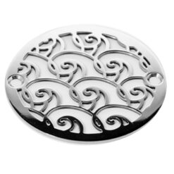 3.375 Inch Round Waves design shower drain