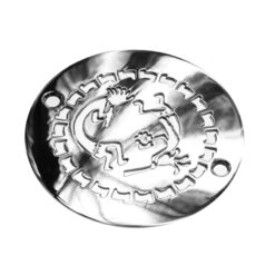 Designer Drains-art-history-kokopelli-polished-stainless