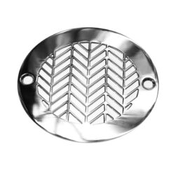 4 Inch Round Shower Drain Cover | Geometric Wheat No. 2™