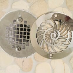 Nautilus round shower drain installment_Oatey replacement