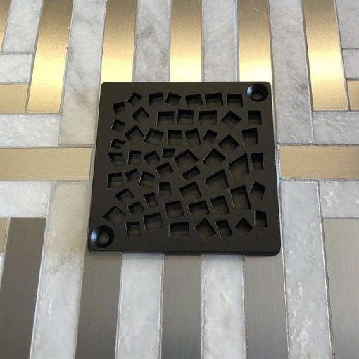 Nature Random Squares Shower Drain | Replacement For Kerdi-Schluter