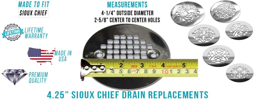 Sioux Chief 4.25 inch Round Drain
