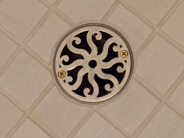 3.25 Inch Round Shower Drain Classic 8 Scrolls