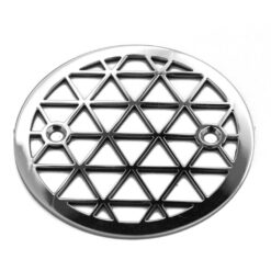 3.25 inch round shower drain, triangles