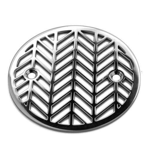 Round Geometric Design Shower Drain Cover