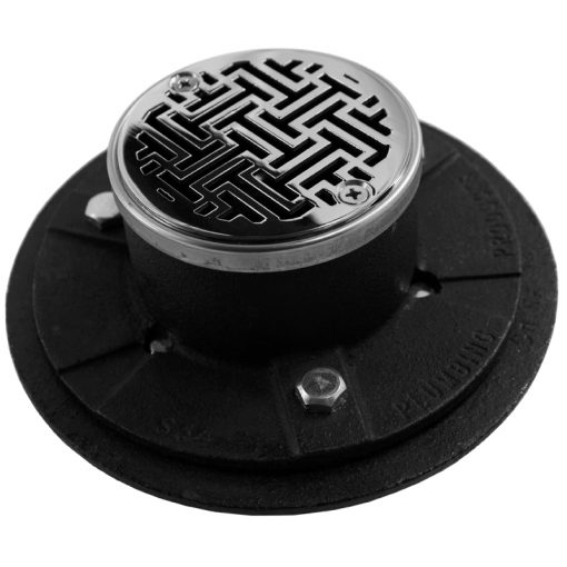 Cast Iron Shower Drain Kit - Hot Mop Ready For Shower Remodel