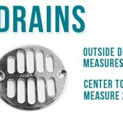 "3.25"" Round Drains - Designer Drains"