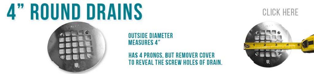 4 Inch Round Drains - Designer Drains