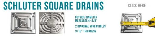 Designer Drains Makes Schluter shower drain replacements
