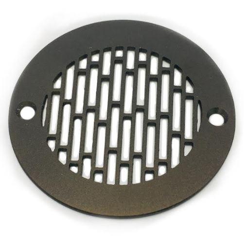 Shower-Drain-Cover-4-Inch-Round-Architecture-Roman-Bricks-Oil-Rubbed-Bronze.