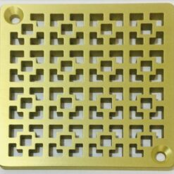 Kerdi-Schluter-Shower-Drain-Replacement-Cover-Geometric-No.-1-Brushed-Brass