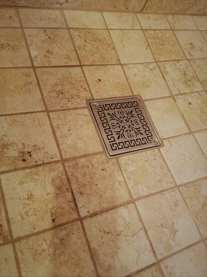 Kerdi Schluter 174 Square Shower Drain Replacement Greek Fret