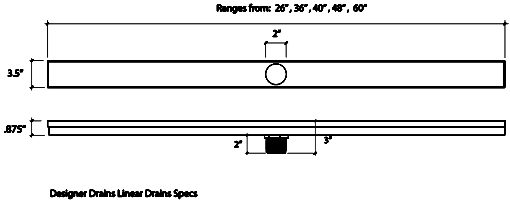 Designer Drains Linear Drains specs