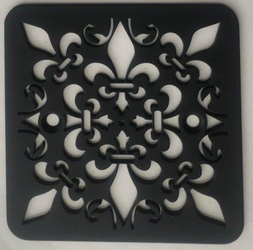 Classic Mon Fleur Replacement for Kohler 9136 Square shower Drain Matte Black