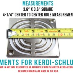 measurement for Kerdi Schluter shower drain