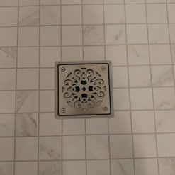 Classic Scrolls No. 4 Square Shower Replacement Drain