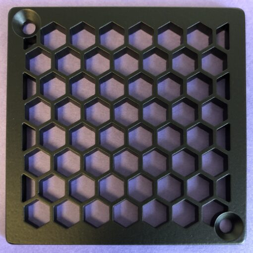 Honeycomb Square Shower Drain_Matte Black_Replacement for Kerdi-Schluter