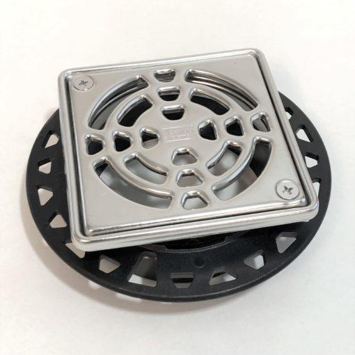 "Schluter Kerdi-Drain Tile Shower Grate Kit 4"" Polished Stainless KD4GRKEP"