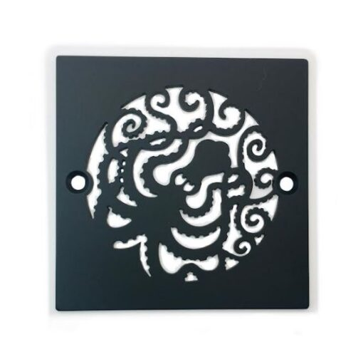 42320-Shower-Drain-Cover-Octopus-Matte-Black