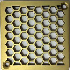 Kerdi-Schluter-Shower-Drain-Replacement-Cover-Honeycomb-Brushed-Brass