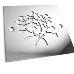 Nature Leaves square stainless steel shower drain