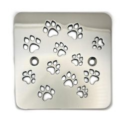Shower-Drain-Cover-Replacement-for-Kohler-K-9136-Doggie-Paws-Polished-Stainless