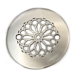4.25-Inch-Round-Shower-Drain-Cover-Mandala-Polished-Stainless